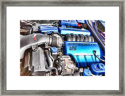 Engine Compartment 4 Framed Print
