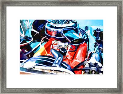 Engine Compartment 6 Framed Print
