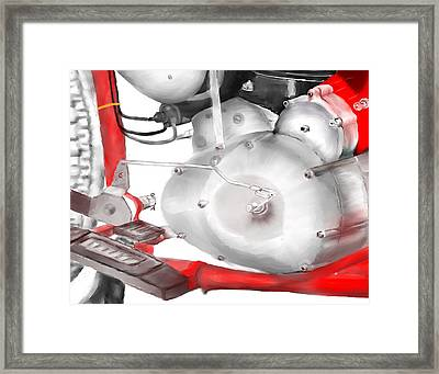 Engine Detail Framed Print