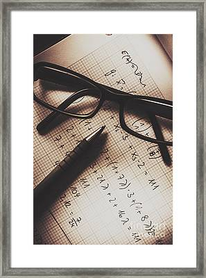 Engineer Students Technical Equations In Mechanics Framed Print by Jorgo Photography - Wall Art Gallery