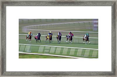 Engineering The Winning Horse Framed Print by Betsy Knapp