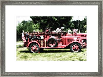 Engines Of Fire Framed Print