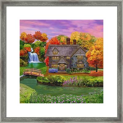 England Country Autumn Framed Print