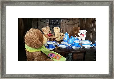 England - Picnic With The Teddy Bears Framed Print by Jeffrey Shaw