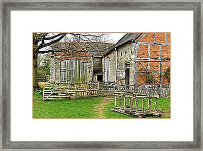 English Barnyard Framed Print by Mindy Newman