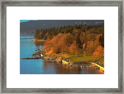 English Bay At Golden Hr. Framed Print