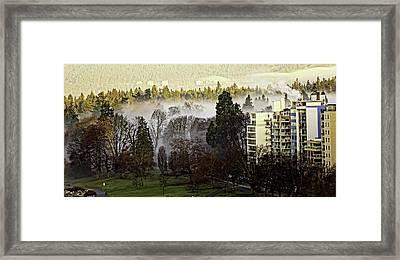 English Bay Fog Framed Print
