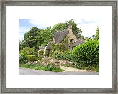 English Beauty Framed Print