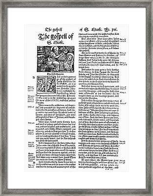 English Bible, 1535 Framed Print by Granger
