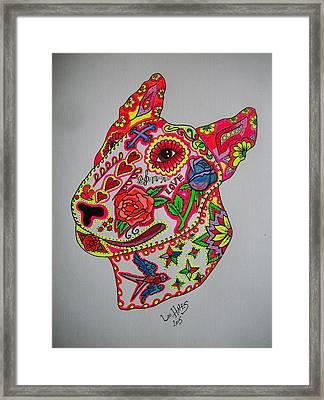 English Bull Terrier  Framed Print by Teresa Hales