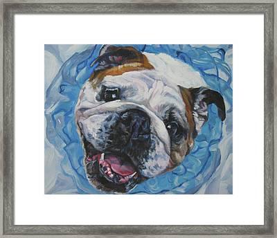 English Bulldog Framed Print by Lee Ann Shepard