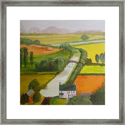 English Canal Framed Print by Blake Originals - Marjorie and Beverly