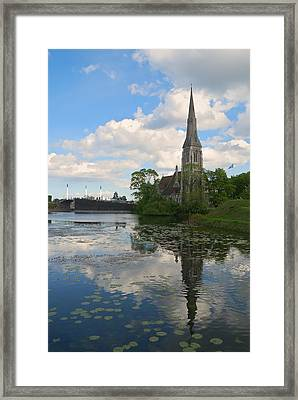 Framed Print featuring the photograph English Church In Copenhagen by Steven Richman