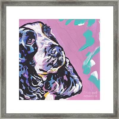 English Cocker Framed Print by Lea S