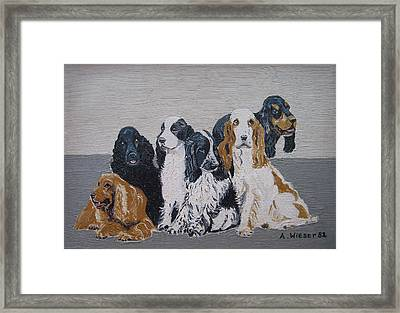 English Cocker Spaniel Family Framed Print by Antje Wieser