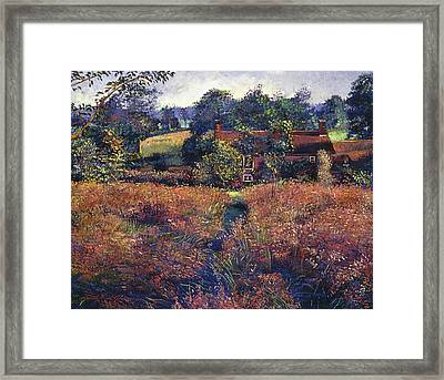 English Country Fields Framed Print