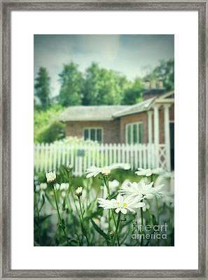 English Country Garden Framed Print by Amanda Elwell