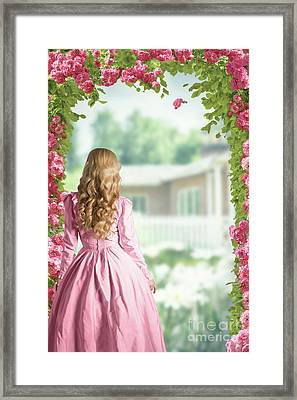 English Country Roses Framed Print