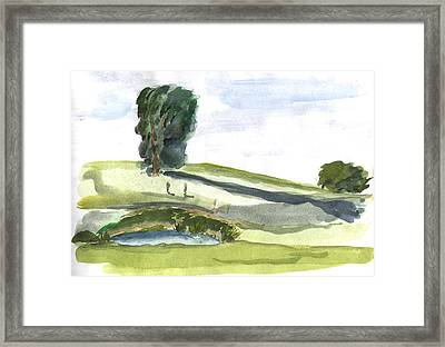 English Countryside Framed Print by Kevin Callahan