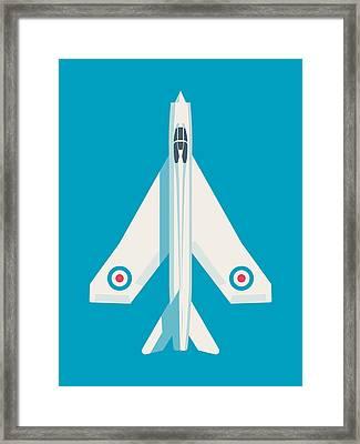 English Electric Lightning Fighter Jet Aircraft - Blue Framed Print