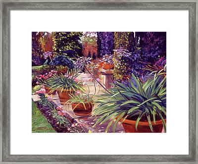 English Estate Patio Garden Framed Print