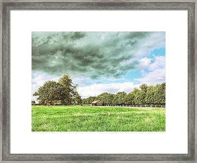English Farmland Scene Framed Print