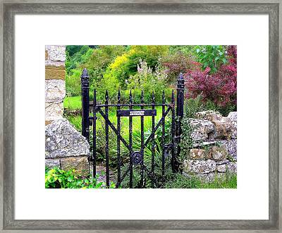 English Garden Gate Framed Print by Jen White