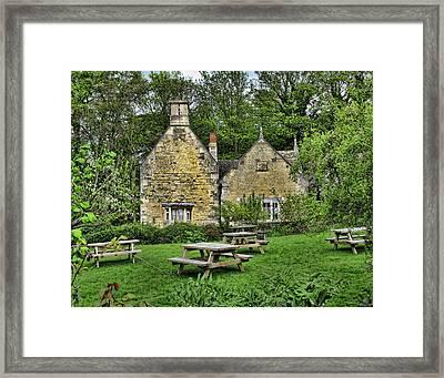 English Garden Framed Print by Helaine Cummins
