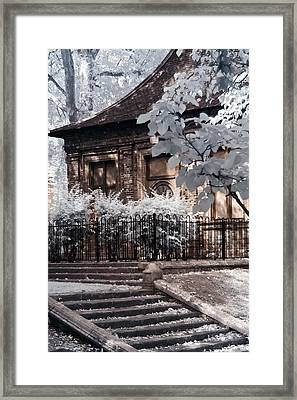 English Garden House Framed Print