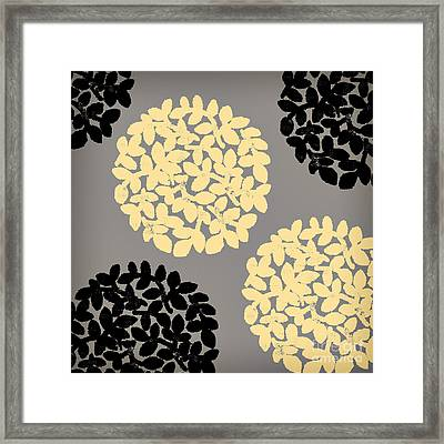 English Garden Retro Flower Pattern Framed Print by Mindy Sommers
