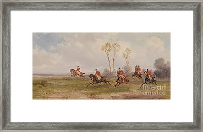 English Hunting Scene  Framed Print by Alfred Steinacker