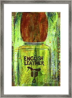 Framed Print featuring the painting English Leather by P J Lewis