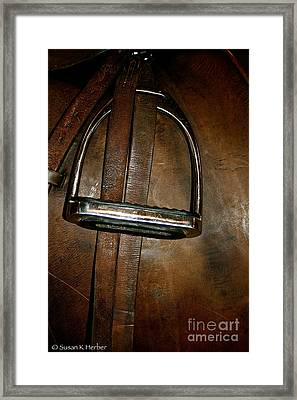 English Leather Framed Print