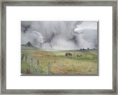 Framed Print featuring the painting English Memories by Sibby S