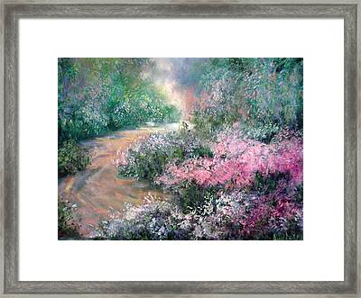 English Path Framed Print by Sally Seago