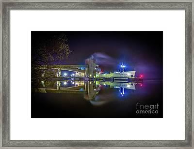 English River At Lafarge, Napanee Framed Print