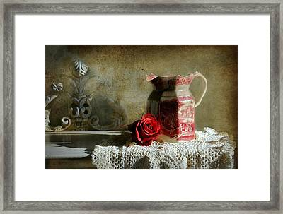 English Rose Water  Framed Print by Diana Angstadt