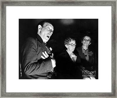English Seance Framed Print by Granger