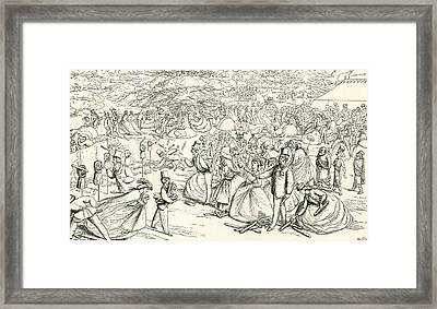 English Society Enjoying A Fair Framed Print