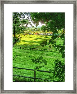 English Summer Contentment  Framed Print