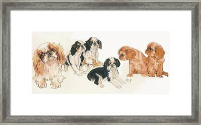 English Toy Spaniel Puppies Framed Print