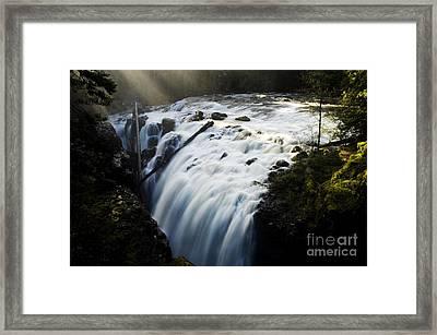 Englishman Falls Framed Print by Bob Christopher