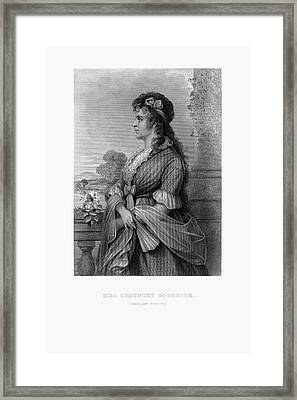 Engraved Portrait Of Mrs. Chauncey Goodrich, Mary Wolcott, Circa 1790 Framed Print by Peacock Graphics