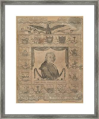 Engraving By Amos Doolittle Framed Print by Everett