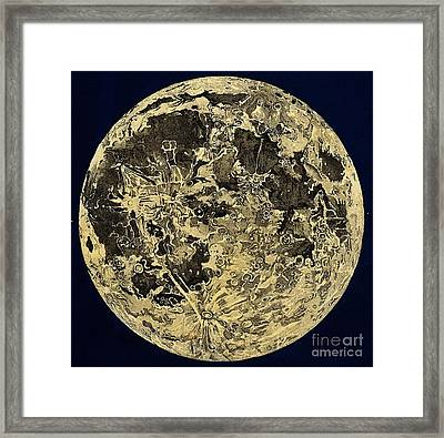Engraving Of Moon Surface, C. 1846 Framed Print by Wellcome Images