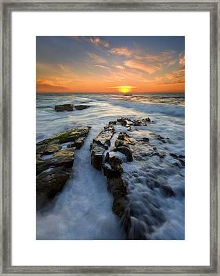 Engulfed Framed Print by Mike  Dawson