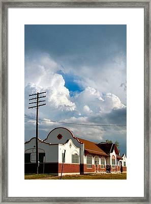 Enid America Depot Framed Print