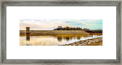 Enid Dam And Lake Panorama Framed Print by Barry Jones