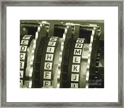 Enigma Cipher Machine Framed Print