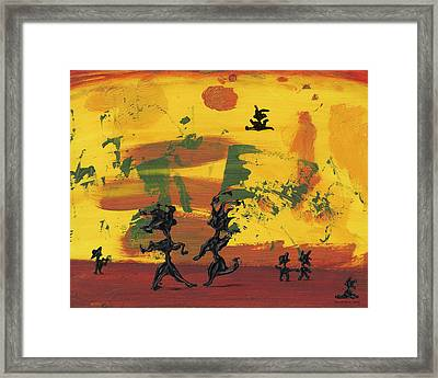 Enjoy Dancing Framed Print